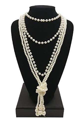 Zivyes 1920s Necklace Gatsby Accessories 67.8