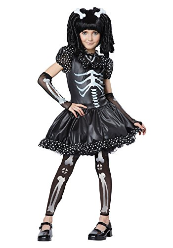 California Costumes Skeleton Girl Child Costume, Un solo color, X-large