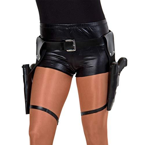 NET TOYS Llamativo cinturón de Pistola Lara Croft con Dos ...