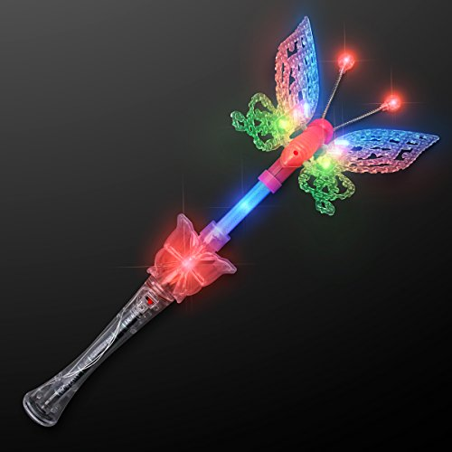 Large Musical Blinking Butterfly Wands -