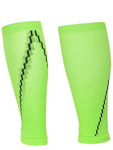 UPC 017391109984, Red Lion Neon Compression Running Leg Sleeves Sold as Pair ( Neon Green / Black - Small / Medium )