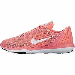 Nike Women's Flex Supreme Tr 5 Cross Trainer, Lava Glowwhiteuniversity Redblack, 8 B Us