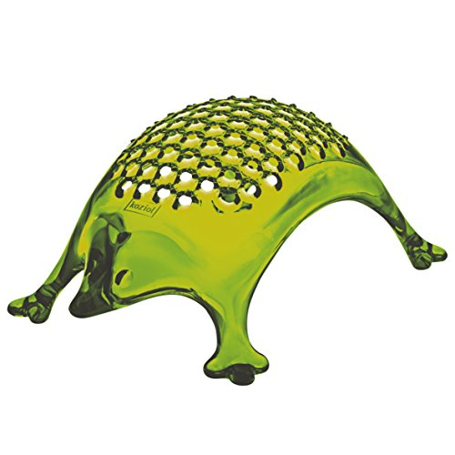 koziol KASIMIR Hedgehog Cheese Grater, transparent olive green (Hedgehog Cheese)