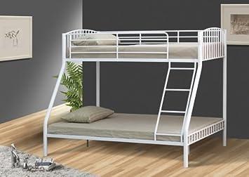 Etagenbett Metall : Comfy living weiß ft und triple metall kinder etagenbett
