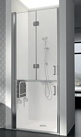 Mampara de ducha asistencia PMR con cristal Securit 6 mm antical personalizable: Amazon.es: Bricolaje y herramientas