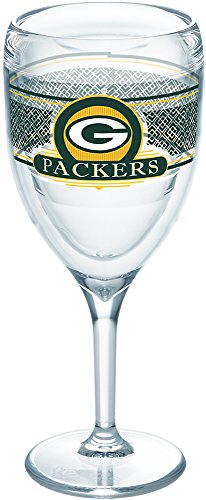 Tervis 1227688 NFL Green Bay Packers Select Tumbler with Wrap 9oz Wine Glass, Clear