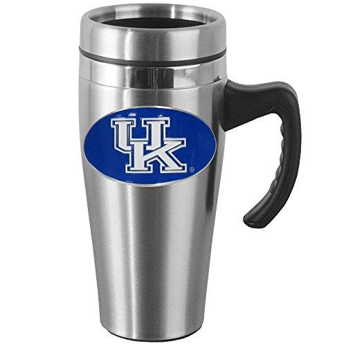 NCAA Kentucky Wildcats Steel Travel Mug with Handle (Best Travel Coffee Mug Uk)