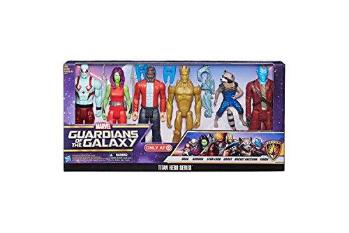 Marvel Guardians of the Galaxy Titan Hero Series 6-Pack 12-inch Action Figures Set: Drax, Gamora, Star-Lord, Groot, Rocket Raccoon, (Galaxy Toy)