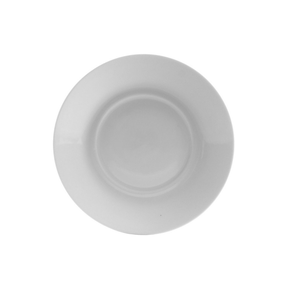 10 Strawberry Street Royal White 6.25'' Saucer Only, Set of 6, White