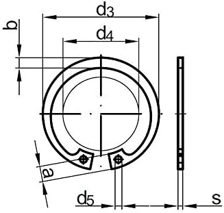 Stahl 2 Stk DIN 472 Sicherungsringe 18