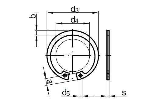 Stahl 10 Stk DIN 472 Sicherungsringe 48