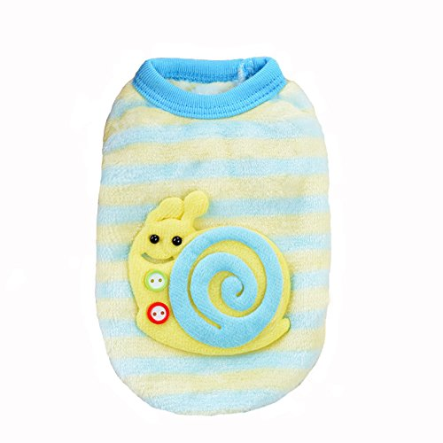 Pictures of MD New Cute Baby Pet Clothes Teacup Blue stripe XXXS 3
