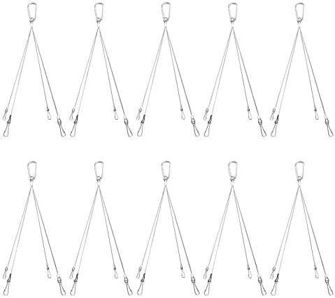 8pcs Rope Hook Hanger Wire Stainless Steel For Hanging Grow Light Plant Lumière