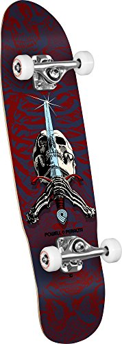 Powell-Peralta Skull & Sword 06 Shape 186 Mini Complete Skateboard, 8