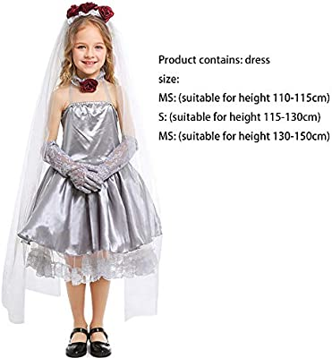 ZDCY Fantasma Ropa Infantil De Halloween Disfraces Novia Niña del ...