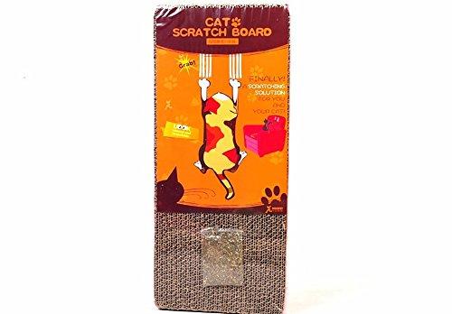 Angelwing Cat Scratch Board Scratcher Lounge Floor Pad Mat Kitten Claws Toy Cat (Fiberglass Junior Snowboard)
