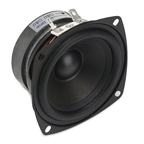 DROK 3 Inch Square 4Ω HiFi Full-range Speaker 15W Tweeter Speakers 45mm Strong Interference Immunity External Magnetic for DIY Refit Audio Player 4 ohm Bookshelf Speakers