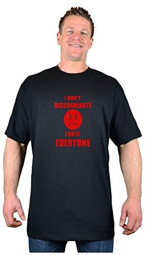Big Tee Shirt Herren T-Shirt, Logo Schwarz Schwarz