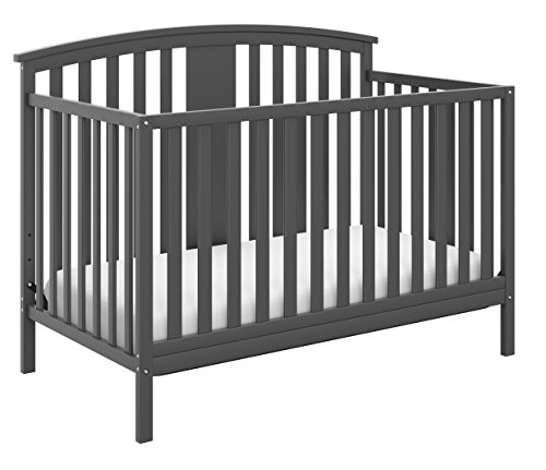 Storkcraft Greyson 4-in-1 Convertible Crib Gray ()