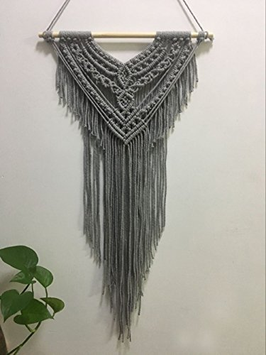 Wall Hanging Throw Blanket - Youngeast 100% Handmade Boho Macrame Wall Hanging Home Décor, Grey