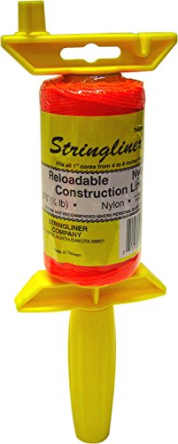 STRINGLINER COMPANY 25006 Twisted 135-Feet Reloadable Line Reel, Fluorescent ()