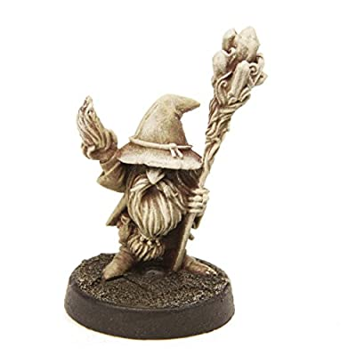 Stonehaven Gnome Wizard Male Miniature - 28mm Table Top Wargame Figure