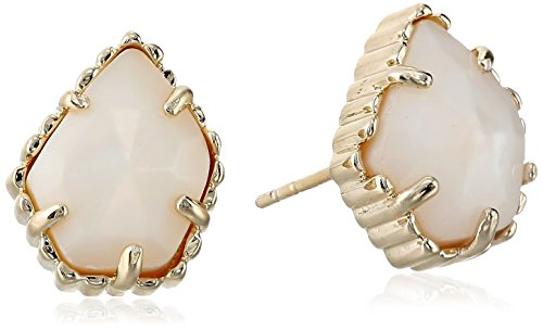 - Kendra Scott  Gold and White Mother-Of-Pearl Tessa Stud Earrings