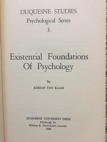 Existential foundations of psychology