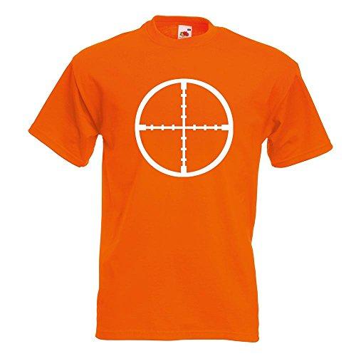 Kiwistar Crosshair riflescope T-Shirt In 15 Different Colors - Men's Funshirt Printed Design Fun motive Top Cotton S M L XL XXL (Mens Riflescope)