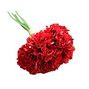 Acamifashion 6 Branches Artificial Carnations Flowers Home Decor 43