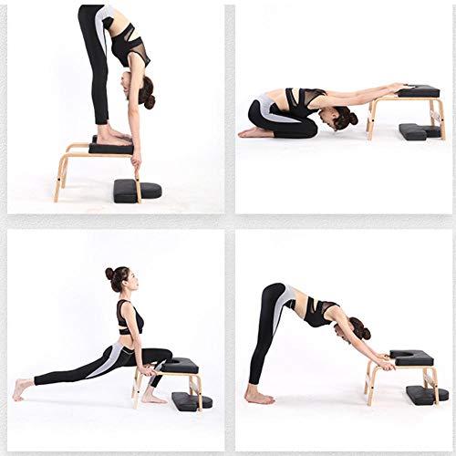 Yoga Taburete de Cabeza - Yoga Silla Parada de Cabeza Taburete, Banco de Ejercicios para Yoga, Yoga Parada de Cabeza Banco para Gimnasio Familiar ...
