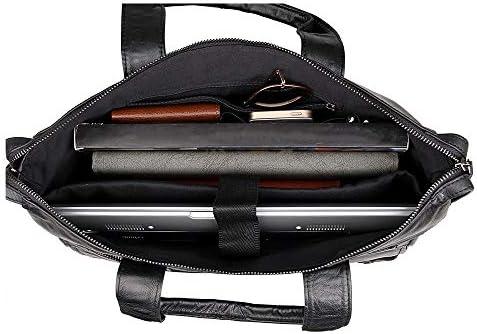 ブリーフケース メンズビジネスブリーフケースレトロラップトップケース大容量ショルダーメッセンジャーバッグ メンズブリーフケース (Color : Chocolate, Size : 38x7.5x30.5cm)