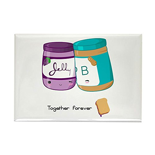 CafePress - Peanut Butter and Jelly Love Rectangle Magnet - Rectangle Magnet, 2