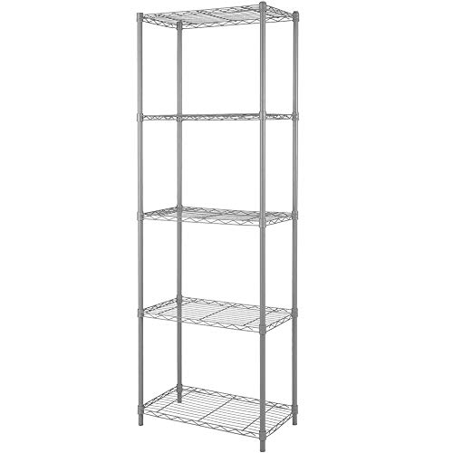 Home-Like 5-Tier Wire Shelving Heavy Duty Shelf Metal Storage Rack Multipurpose Shelf Display Rack Freestanding Organizer Shelf 21