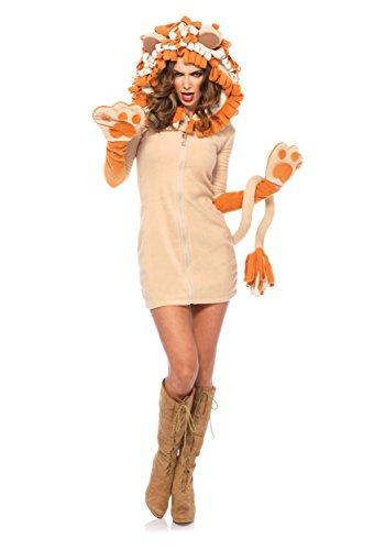 Women's Cozy Lion Costumes (Leg Avenue Women's Cozy Lion Costume, Brown, Large)