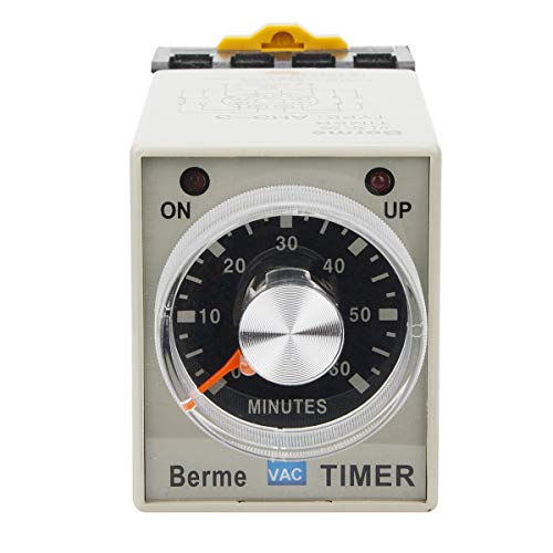 - Electrical Buddy Electrical Buddy 60M Time Range 8 Terminals Adjustable Delay Timer Time Relay AH3-3 AC110