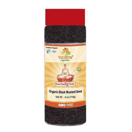 Organic Mustard Black 4 Oz by Vedica Organics