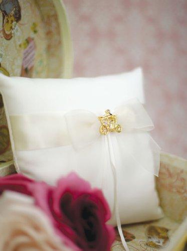 Wedding Collectibles Cinderella Fairy Tale Coach Wedding Ring Bearer Pillow (Silver/Gold): Pillow Color: IVORY - Coach Color: GOLD