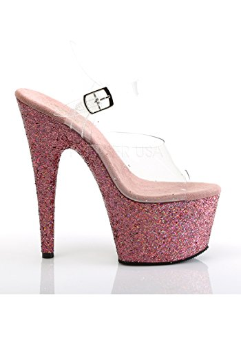Glitter Clr Pink 708lg Champagne Multi Ouvert Bout Pleaser Femme Adore XFzw6zx7