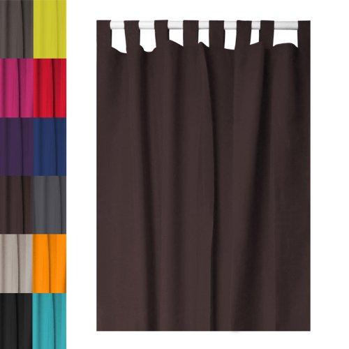 Curtains Ideas chocolate brown tab top curtains : Today 257201 Tab-Top Curtain Polyester 140 x 260 cm, polyester ...