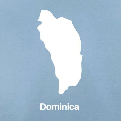Dominica Silhouette - Damen T-Shirt - Himmelblau - L