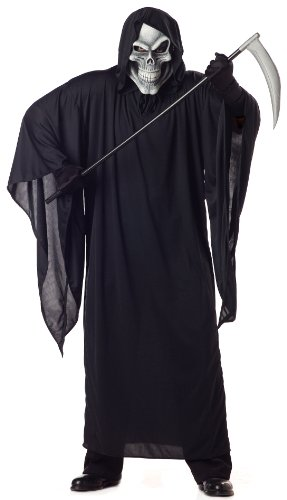 [Grim Reaper Plus Size Costume] (Affordable Costumes)