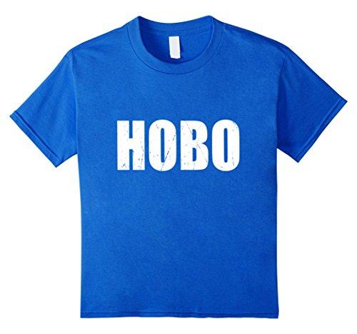 Hobo Costumes Kids (Kids Hobo T Shirt Halloween Costume Funny Retro Distressed 12 Royal)