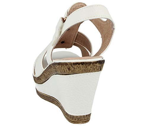 ragazza' A04 Zeppe Walk donna da Cushion White qCfH7wX