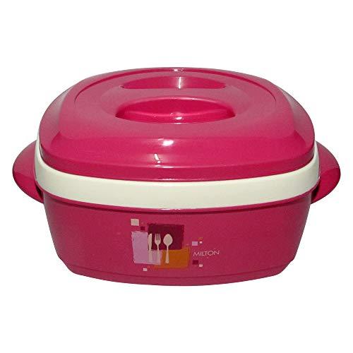 - Milton Milano, 1500ML Exclusive Square Designed Food Warmer, Insulated Casserole (Pink)