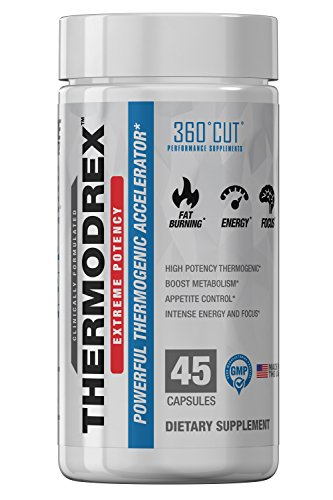 360CUT Thermodex Thermogenic Weight Loss, Appetite Suppression and Energy Supplement, 45 Natural Veggie Cap Servings
