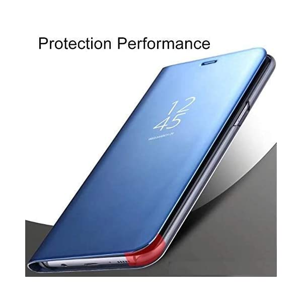 Indiacase Mobile Clear View Mirror Flip Cover for Samsung Galaxy M12 [Blue, Mirror Flip, Flip Cover for Samsung Galaxy… 2021 July Compatible with Samsung Galaxy M12. NOTE:: YOU CANNOT OPERATE A PHONE UNTIL YOU OPEN A FLIP. Luxurious Look: Clear View Mirror Design Glossy PC Mirror backside design allows for a clear and polished reflection.Lens 0.8mm higher tection, case 0.3mm higher tection Unique Look featuring Smooth Brushed texture, glossy accents and carbon fibre texture. Easy to remove & install, anti scratch, washable case. Heat Dissipation Design, flexible and tear resistant. Functional: Perfect Fit perfect with the phone,Camera and other ports, sensors and sockets are available with precise cut-outs and the speakers work just fine with the case in place.