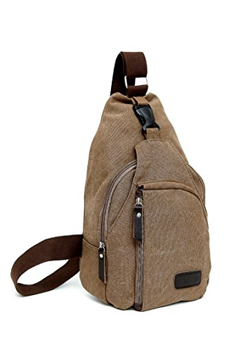 Saygoer Shoulder Sling Bag Chest CrossBody Bag for Bicycle Sport Travel Coffee