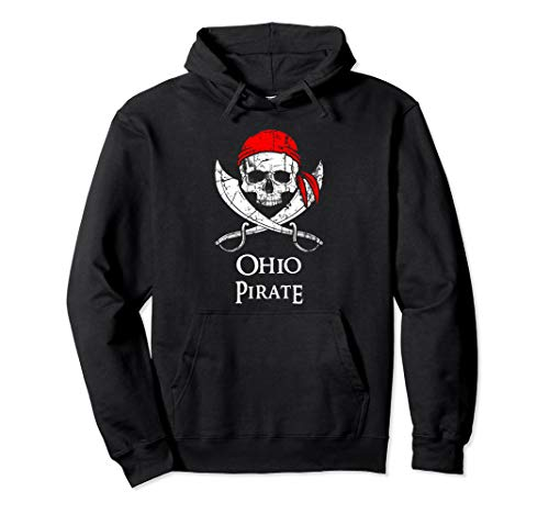 Ohio Pirate Jolly Roger State Pride Hoodie Pullover -