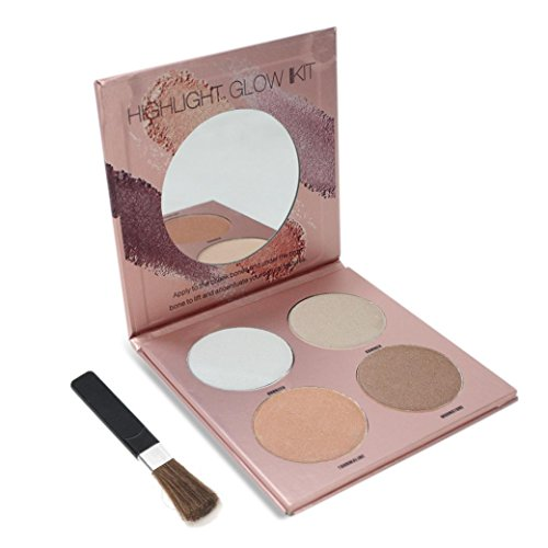 4 Color Powder Palette, Grooming Trimming Powder Makeup Eyeshadow Palette
